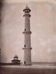 North-west minaret of the Taj Mahal, Agra